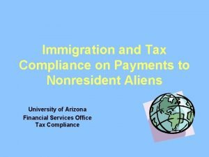 Immigration and Tax Compliance on Payments to Nonresident