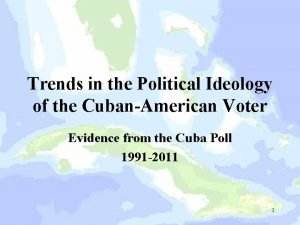 Trends in the Political Ideology of the CubanAmerican