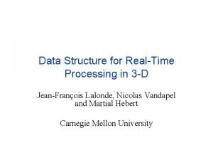 Data Structure for RealTime Processing in 3 D