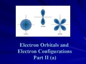 Electron Orbitals and Electron Configurations Part II a