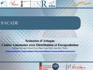 SACADE Scnarios dAttaque Contre Automates avec Distribution et