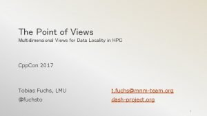 The Point of Views Multidimensional Views for Data