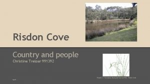 Risdon Cove Country and people Christine Treloar 991392