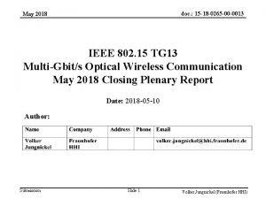 doc 15 18 0265 00 0013 May 2018
