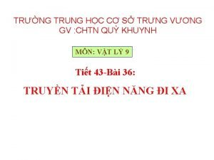 TRNG TRUNG HC C S TRNG VNG GV