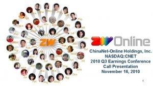 China NetOnline Holdings Inc NASDAQ CNET 2010 Q