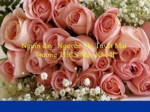 Ngi dy Nguyn Th Tuyt Mai Trng THCS