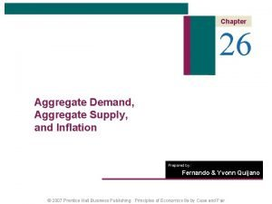 Chapter 26 Aggregate Demand Aggregate Supply and Inflation