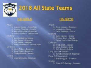 2018 All State Teams HS GIRLS Attack Attack