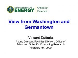 View from Washington and Germantown Vincent Dattoria Acting