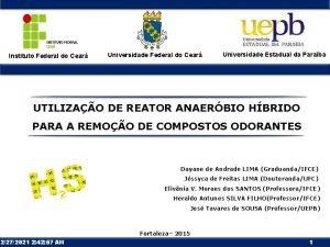 Instituto Federal do Cear Universidade Estadual da Paraba