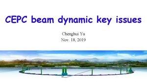 CEPC beam dynamic key issues Chenghui Yu Nov