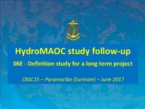 Hydro MAOC study followup 06 E Definition study