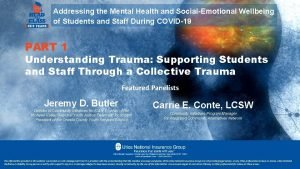 Addressing the Mental Health and SocialEmotional Wellbeing of
