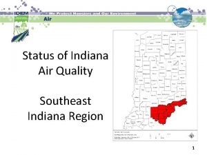 Status of Indiana Air Quality Southeast Indiana Region