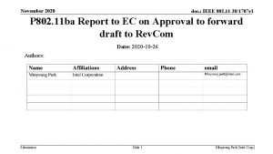 November 2020 doc IEEE 802 11 201707 r