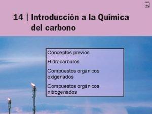 Conceptos previos Hidrocarburos Compuestos orgnicos oxigenados Compuestos orgnicos