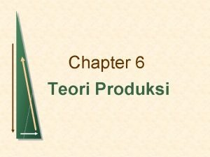 Chapter 6 Teori Produksi Topics to be Discussed