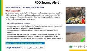 PDO Second Alert Date 25 04 2020 Incident