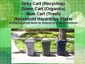 Grey Cart Recycling Green Cart Organics Blue Cart