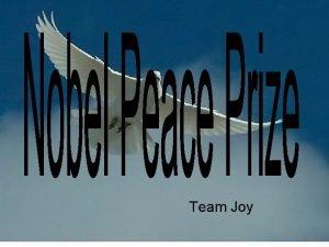 Team Joy Team Joy has the pleasure of