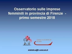 Osservatorio sulle imprese femminili in provincia di Firenze