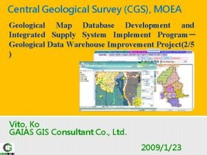 Central Geological Survey CGS MOEA Geological Map Database