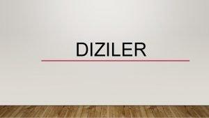 DIZILER D 11 6 1 GEREK SAYI DIZILERI