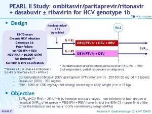 PEARL II Study ombitasvirparitaprevirritonavir dasabuvir ribavirin for HCV