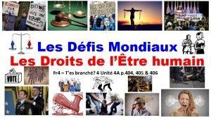 Les Dfis Mondiaux Les Droits de ltre humain
