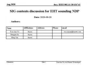 Aug 2020 doc IEEE 802 11 201317 r