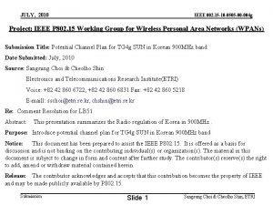 JULY 2010 IEEE 802 15 10 0505 00