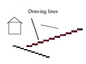 Drawing lines Line algorithm 1 DDA Simple but