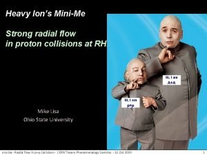 Heavy Ions MiniMe Strong radial flow in proton