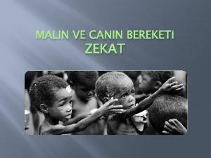 MALIN VE CANIN BEREKET ZEKAT Zekat Nedir Mslman