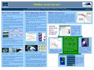 Whither Arctic Sea Ice Walter N Meier 1