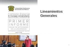 Lineamientos Generales 1 Contenido Fundamentos normativos Desarrollo de