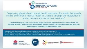 Improving physical and mental health outcomes for adults