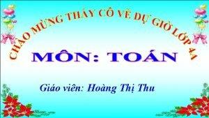 Gio vin Hong Th Thu Kim tra bi