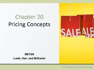 Chapter 20 Pricing Concepts MKTG 9 Lamb Hair