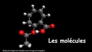 Les molcules Molcule daspirine ralise avec le logiciel