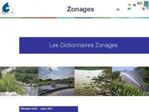 Zonages Les Dictionnaires Zonages Runion GIGE mars 2017