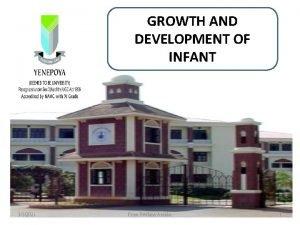 GROWTH AND DEVELOPMENT OF INFANT 332021 Priya Reshma