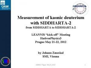 SIDDHARTA 2 Measurement of kaonic deuterium with SIDDHARTA2