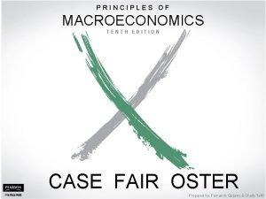 PRINCIPLES OF MACROECONOMICS PART IV Further Macroeconomics Issues