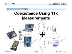 November 2005 doc IEEE 802 11 051172 r
