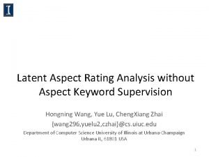 Latent Aspect Rating Analysis without Aspect Keyword Supervision