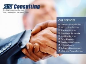 TAXATION SERVICES SBS Consulting specializes in taxation services