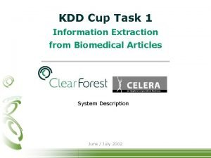 KDD Cup Task 1 Information Extraction from Biomedical