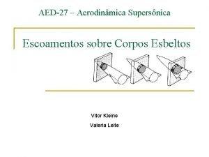 AED27 Aerodinmica Supersnica Escoamentos sobre Corpos Esbeltos Vitor